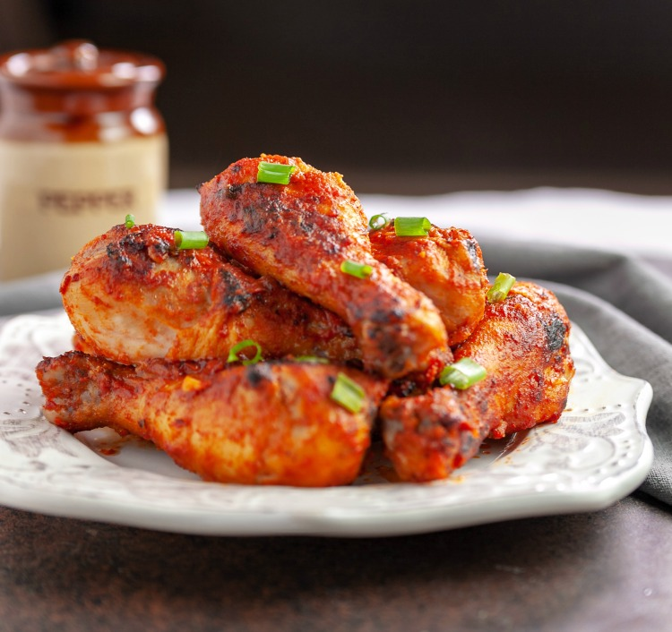 Baked Szechuan Drumsticks Low Carb #steviva, #sweetandeasy