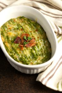 Creamy Cheesy Broccoli Mash with Bacon - Low carb , Keto & Gluten-free