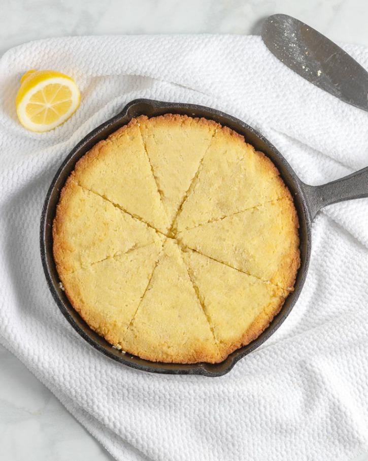 Keto Lemon Skillet Cake