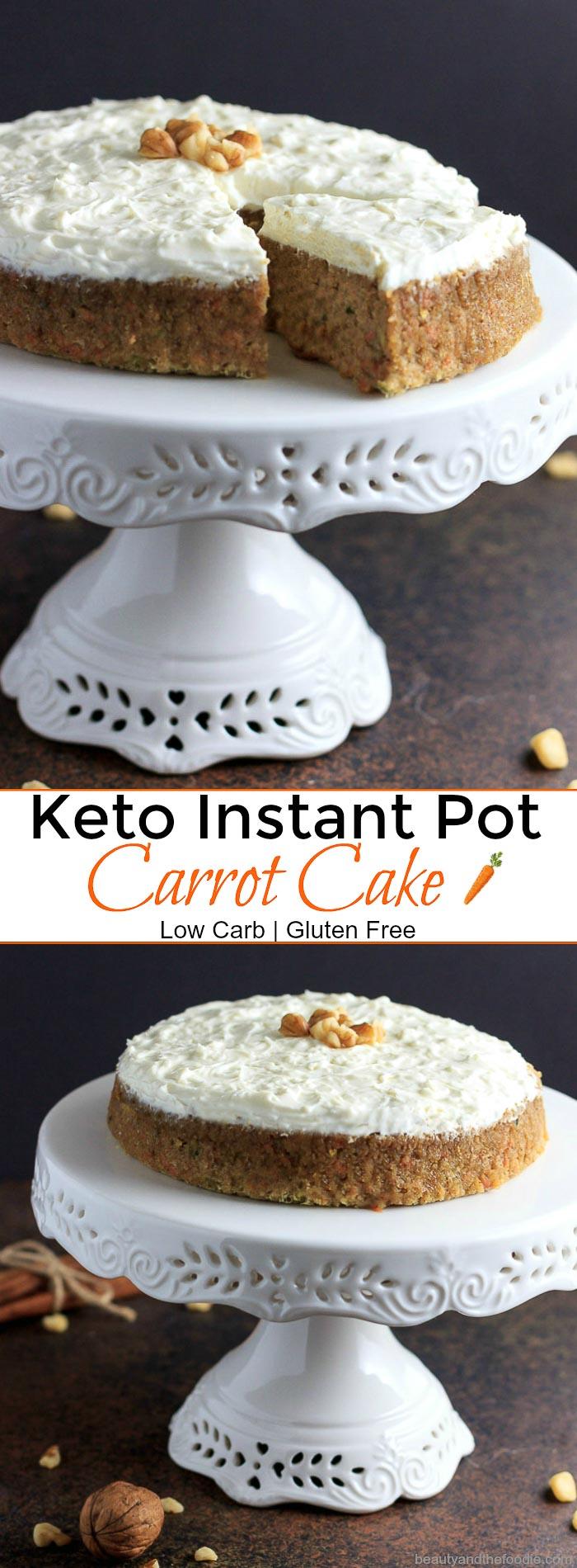 Keto Instant Pot Carrot Cake