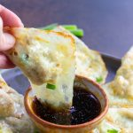 Easy Keto Potstickers with Asian Dipping Sauce- Keto and low carb pot-stickers that are simple to make! #keto #lowcarb #potstickers