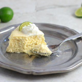Keto Instant Pot Key Lime Cheesecake- keto, low carb, crust free and gluten free. #keto #instantpot #cheesecake