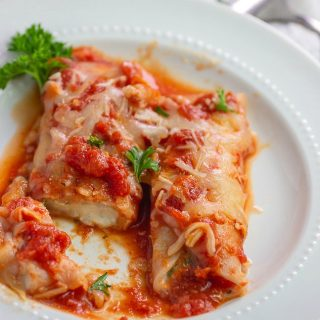 Easy Keto Spinach Cheese Manicotti- Low Carb & Gluten Free.
