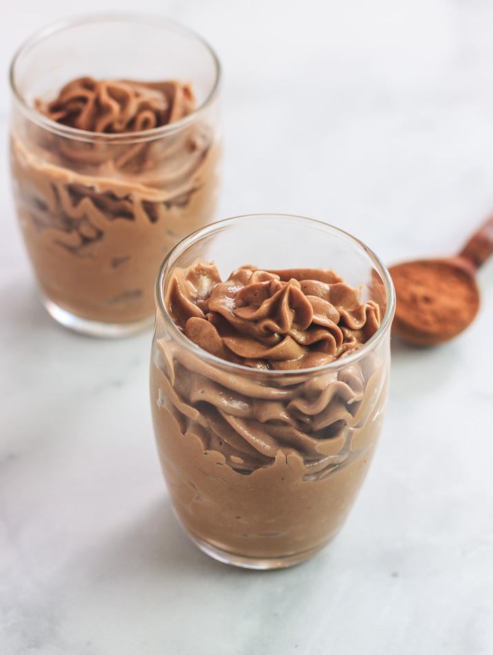 chocolate mousse with peanut butter