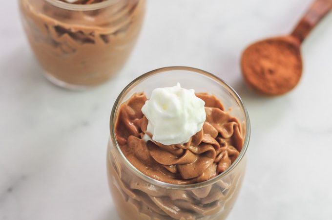 Keto Chocolate Peanut Butter Cheesecake Mousse- Low Carb & Gluten Free, no bake treat.
