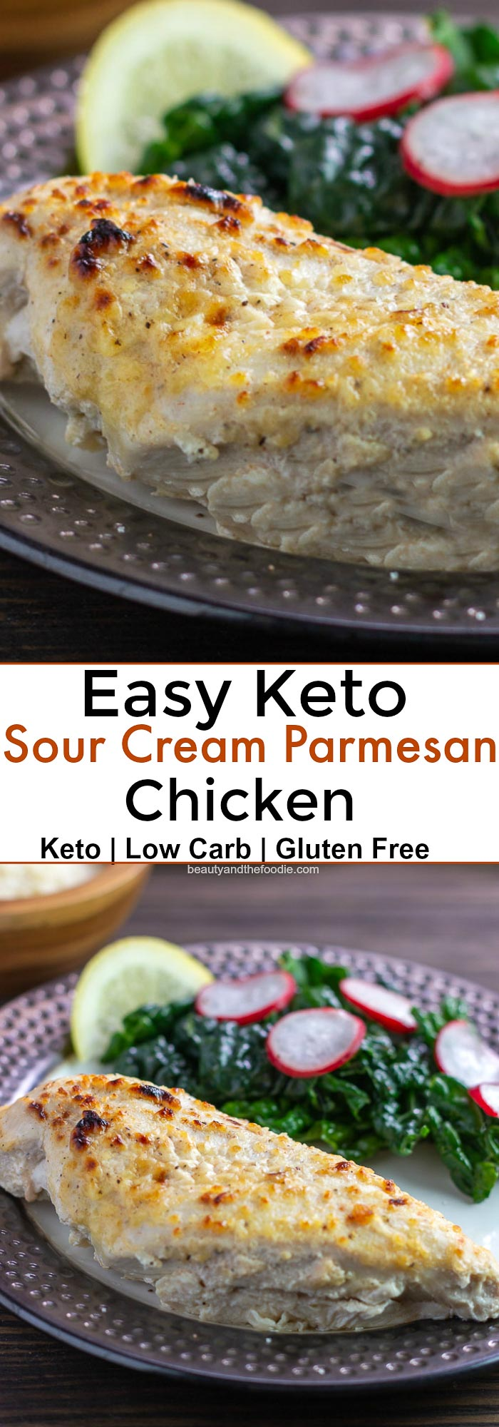 Easy Keto Sour Cream Parmesan Chicken
