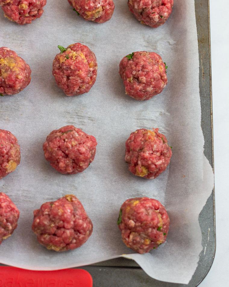 Keto Meatball prep 3