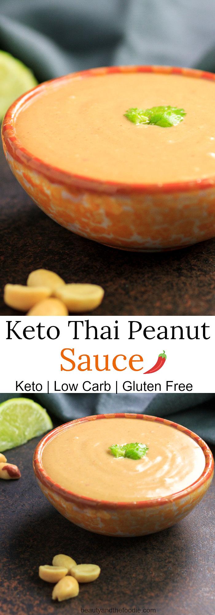 Keto Thai Peanut Sauce- Low carb, gluten free, dairy free.