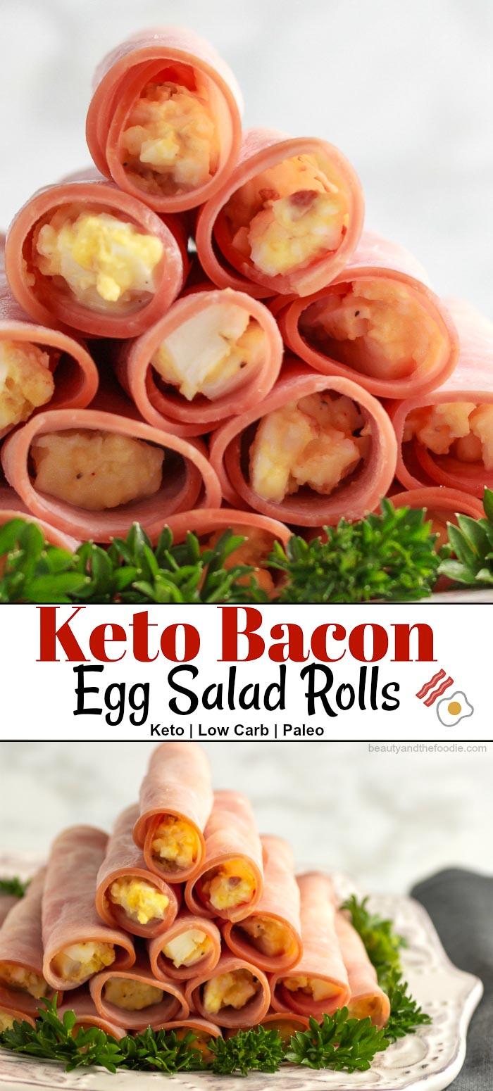 Keto Bacon Egg Salad Rolls