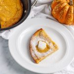 Keto Pumpkin Dutch Baby Pancake- keto , low carb & paleo