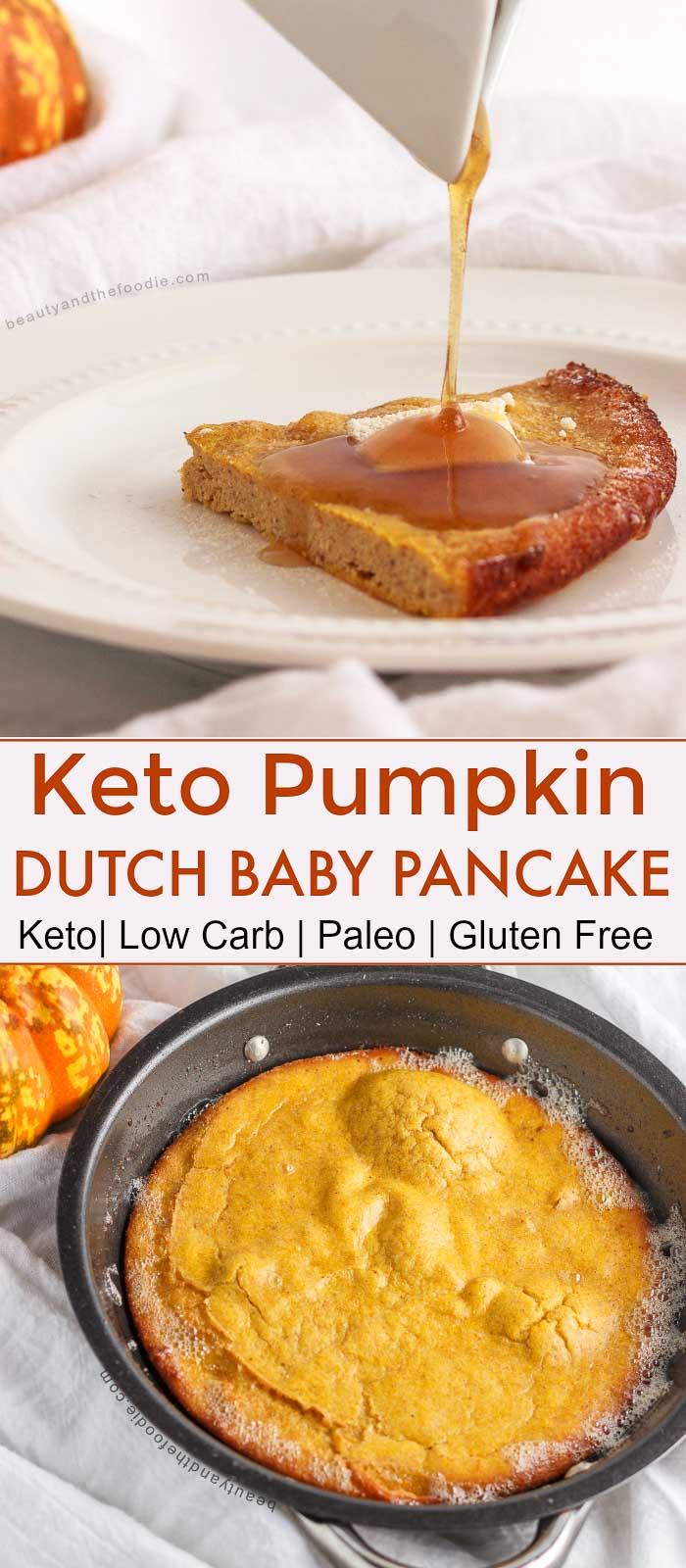 Keto Pumpkin Dutch Baby Pancake