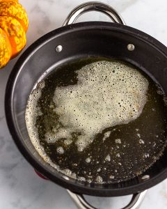 melting the butter