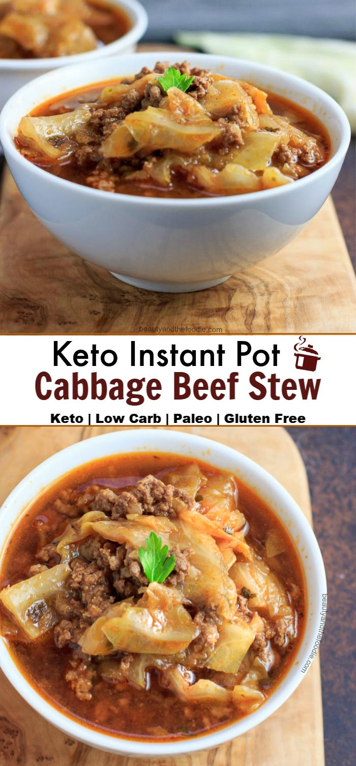 Keto Instant Pot Cabbage Beef Stew