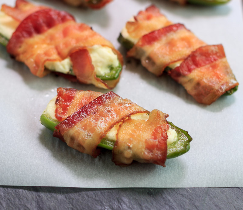 Keto Bacon Wrapped Jalapeno Poppers