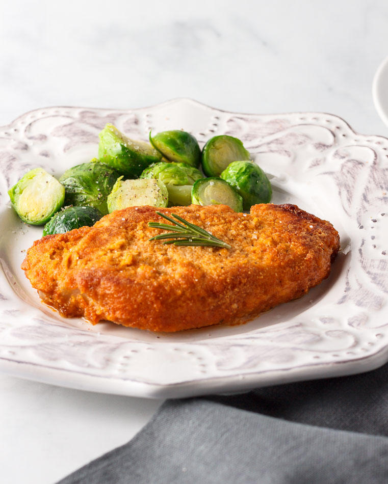Easy Keto low carb breaded and baked Pork Chops