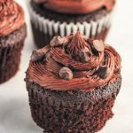 Keto Rich Chocolate Cupcakes with Nutella Frosting