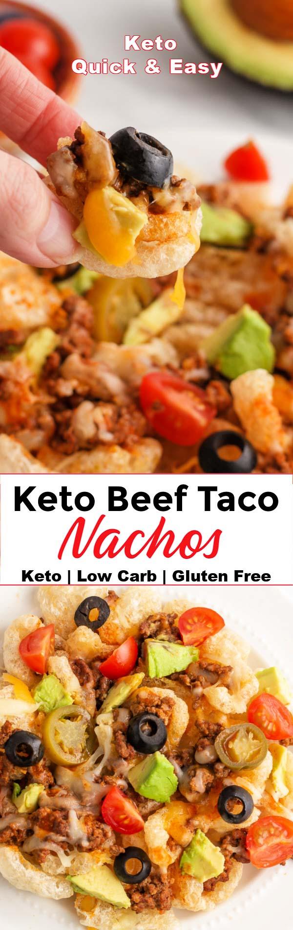 Keto Beef Taco Nachos