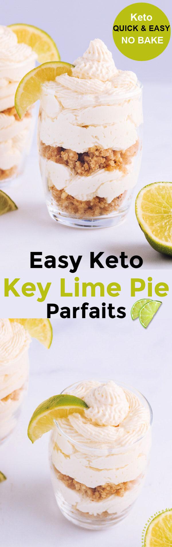 Keto Key Lime Pie Parfaits