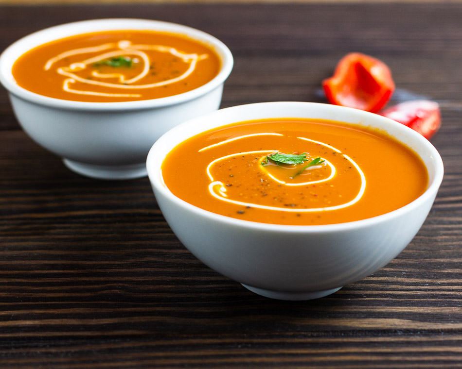 Keto Creamy Roasted Red Pepper Soup