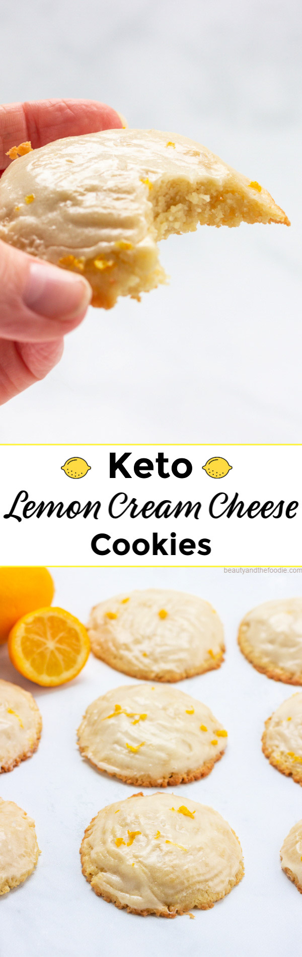 Keto Lemon Cream Cheese Cookies