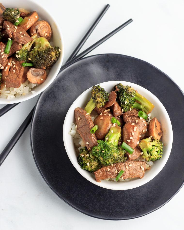 Keto Broccoli Mushroom Beef