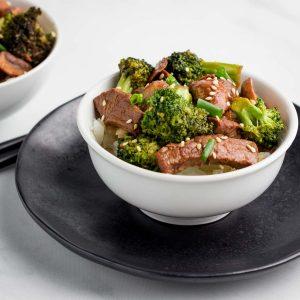 Keto Broccoli Mushroom Beef Bowls