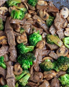 Stir fry the meat & veggies with the sauce.