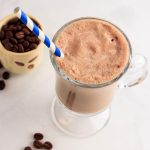 low carb mocha frosty milkshake