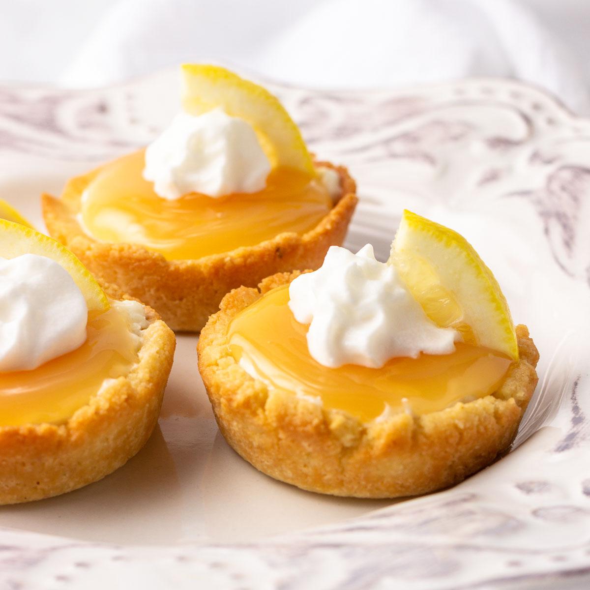 sugar free lemon supreme mini tarts.