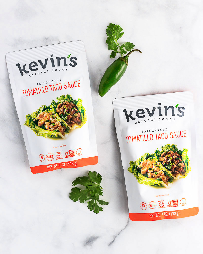 2 Kevin's Tomatillo Taco sauce packets