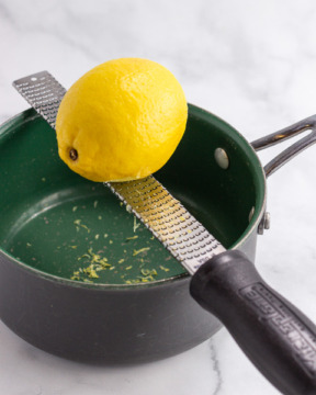 Adding lemon zest