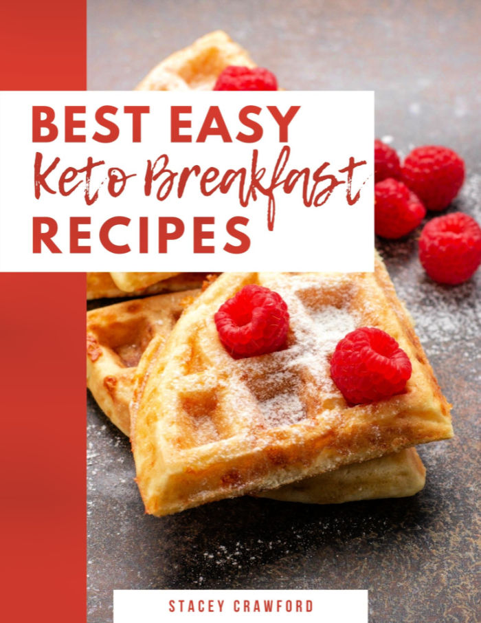 book cove for keto ebook with waffles on it.