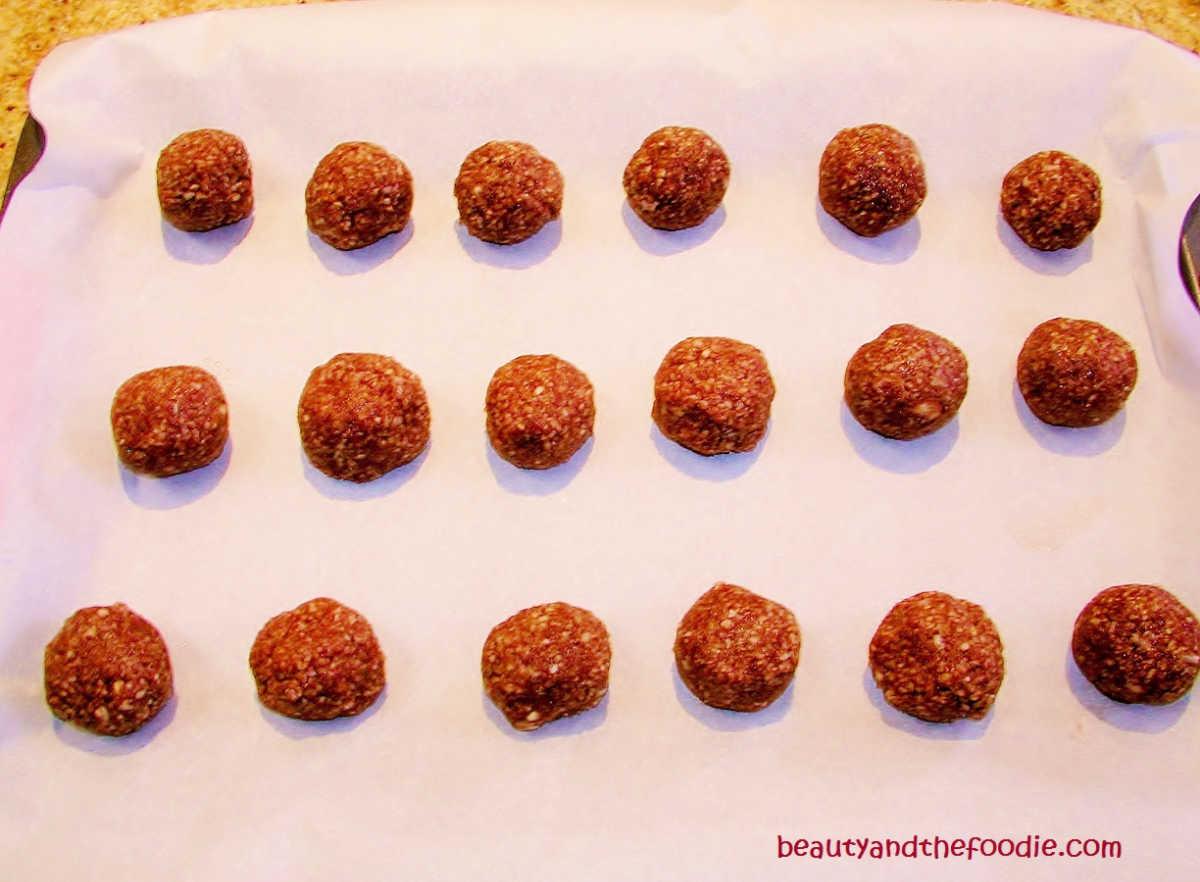 Raw chocolate lemon balls.