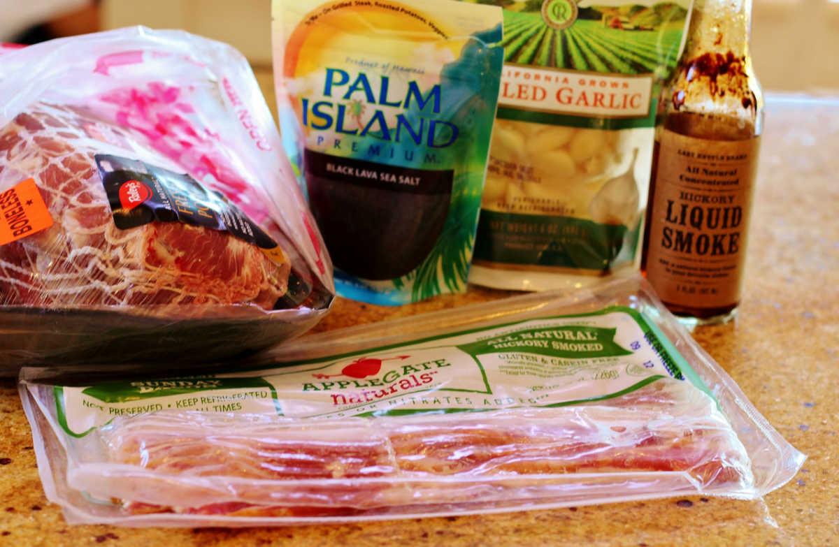 The ingredients used to make Luau pork.