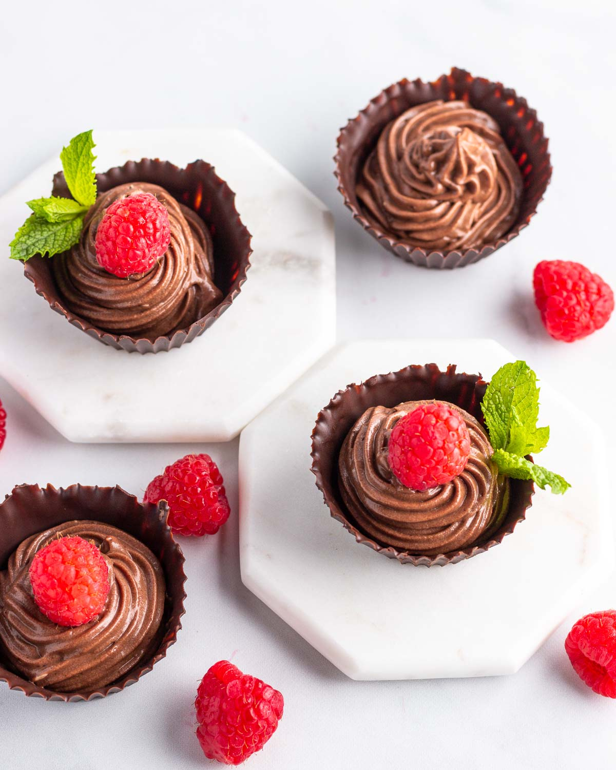 Keto Chocolate Mousse Cups