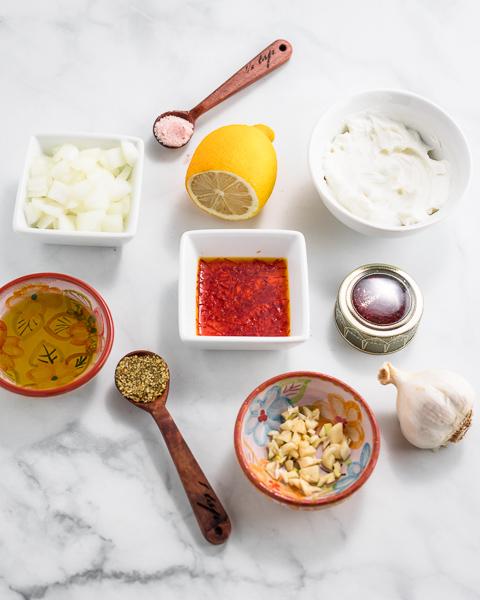 Persian Chicken Kebabs-marinade ingredients